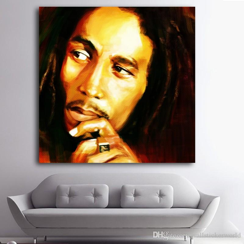 1 Pcs Bob Marley Print Oil Painting Canvas Pictures For Living Room Wall Poster And Prints Modern Art No Framed