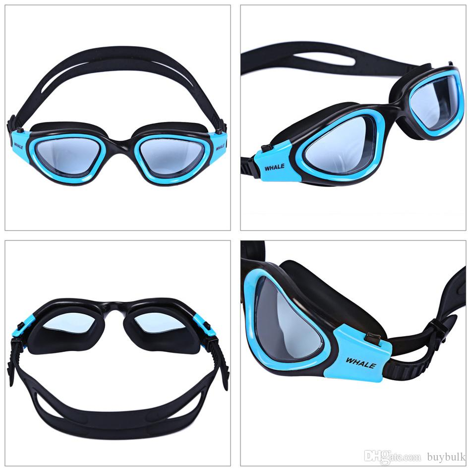 نظارات السباحة الحوت المضادة للضباب الأشعة فوق البنفسجية حماية قابل للتعديل نظارات باردة للرياضات المائية سباحة الغوص