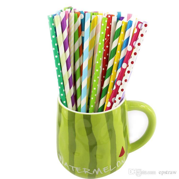 100 pz misti strisce colorate cannucce di carta per decorativi tutti i tipi di compleanno festa di compleanno