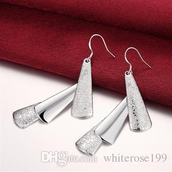 Großhandel - niedrigster Preis Weihnachtsgeschenk 925 Sterling Silber Mode Ohrringe E015