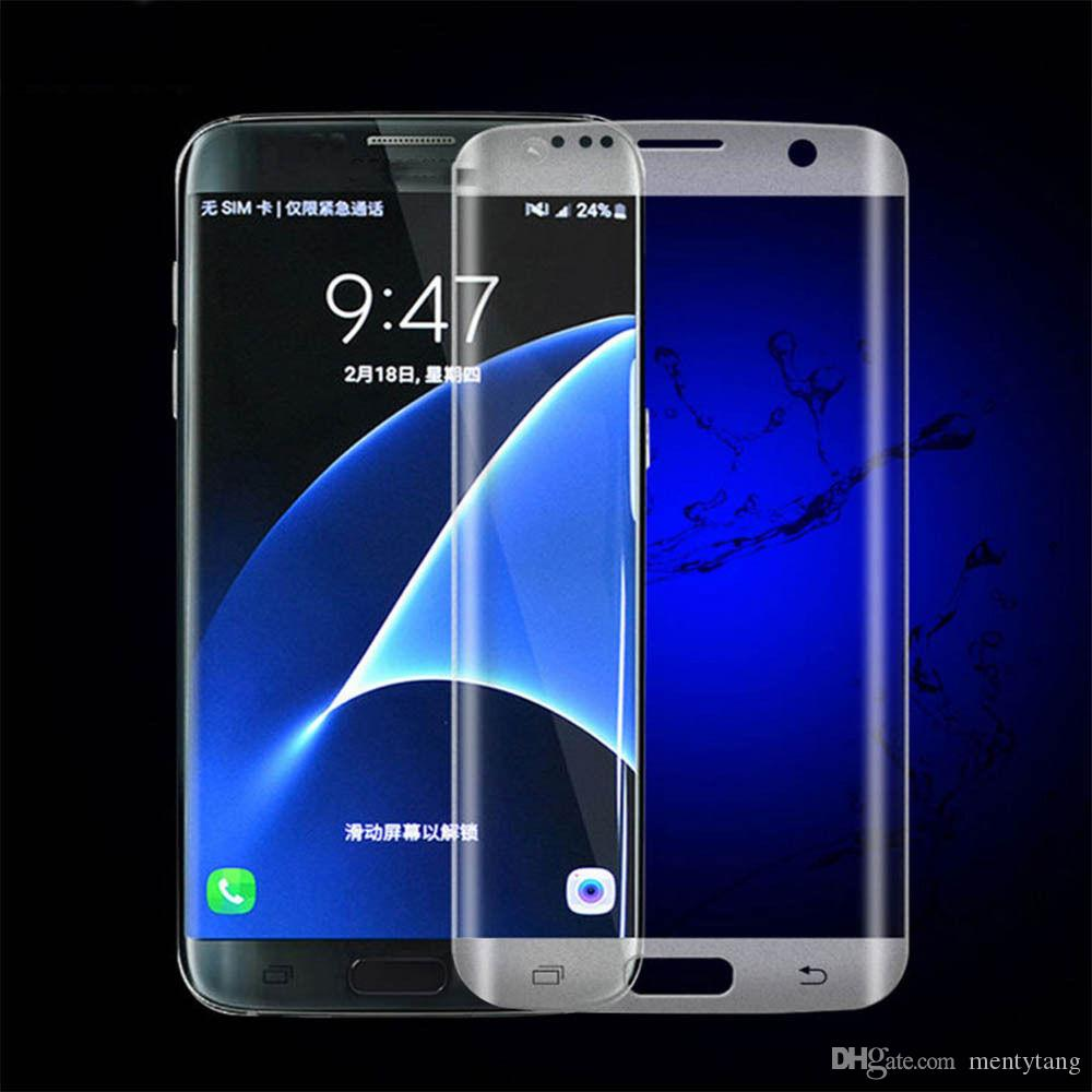 3D Curved Full Cover Tempered Glass Screen Protector for Samsung Galaxy S6 Edge Color Protective Film
