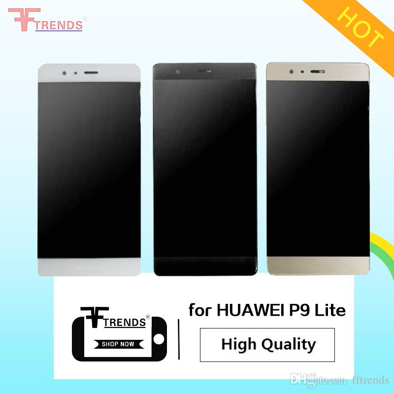 High Quality A+++ for HUAWEI P7 P8 P9 EVA Lite LCD Display & Touch Screen Digitizer Assembly Black White Gold with / without Frame