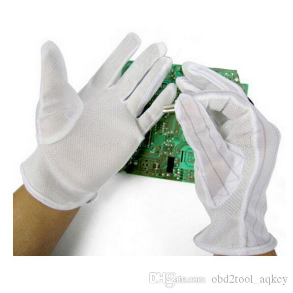 مكافحة ساكنة ESD الآمن العالمي قفازات قفازات العمل الإلكترونية PC الكمبيوتر المضادة للانزلاق لحماية الإصبع 10 أزواج