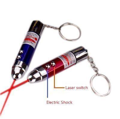 Choque elétrico ogivas todo brinquedo vermelho laser multifuncional keychain toys crianças presente de natal a laser ponteiros a353