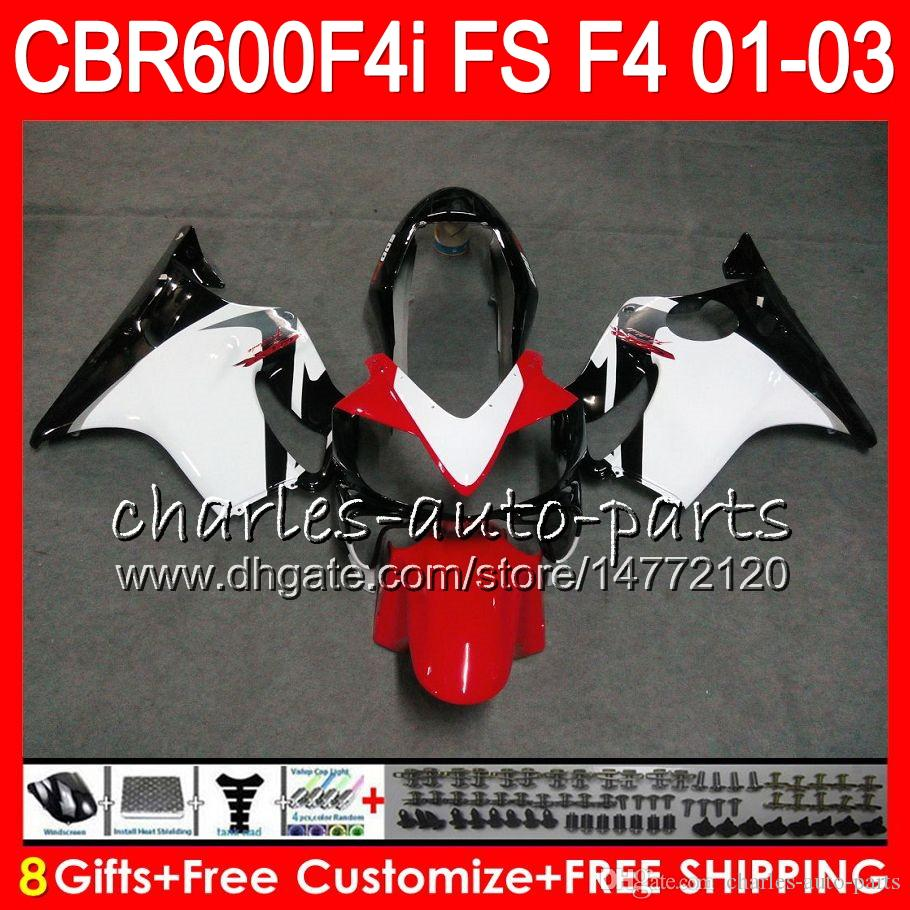 HONDA CBR600FS Için 8 Hediyeler 23 Renkler FS CBR 600 F4i 01-03 28NO52 beyaz siyah CBR600 F4i CBR 600F4i CBR600F4i 2001 2002 2003 01 02 03 Kaporta