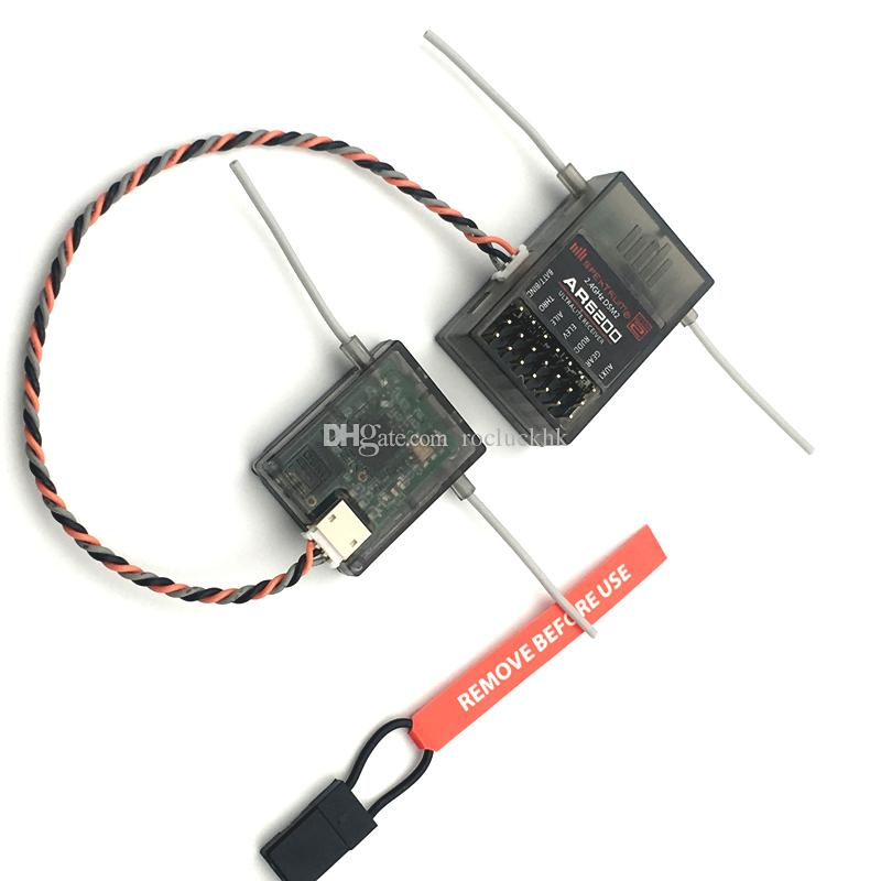 AR6200 2.4Ghz 6ch Receiver with Satellite for DX6i JR DX7 DSM-2 Receiver plastic bag packing Free Shipping