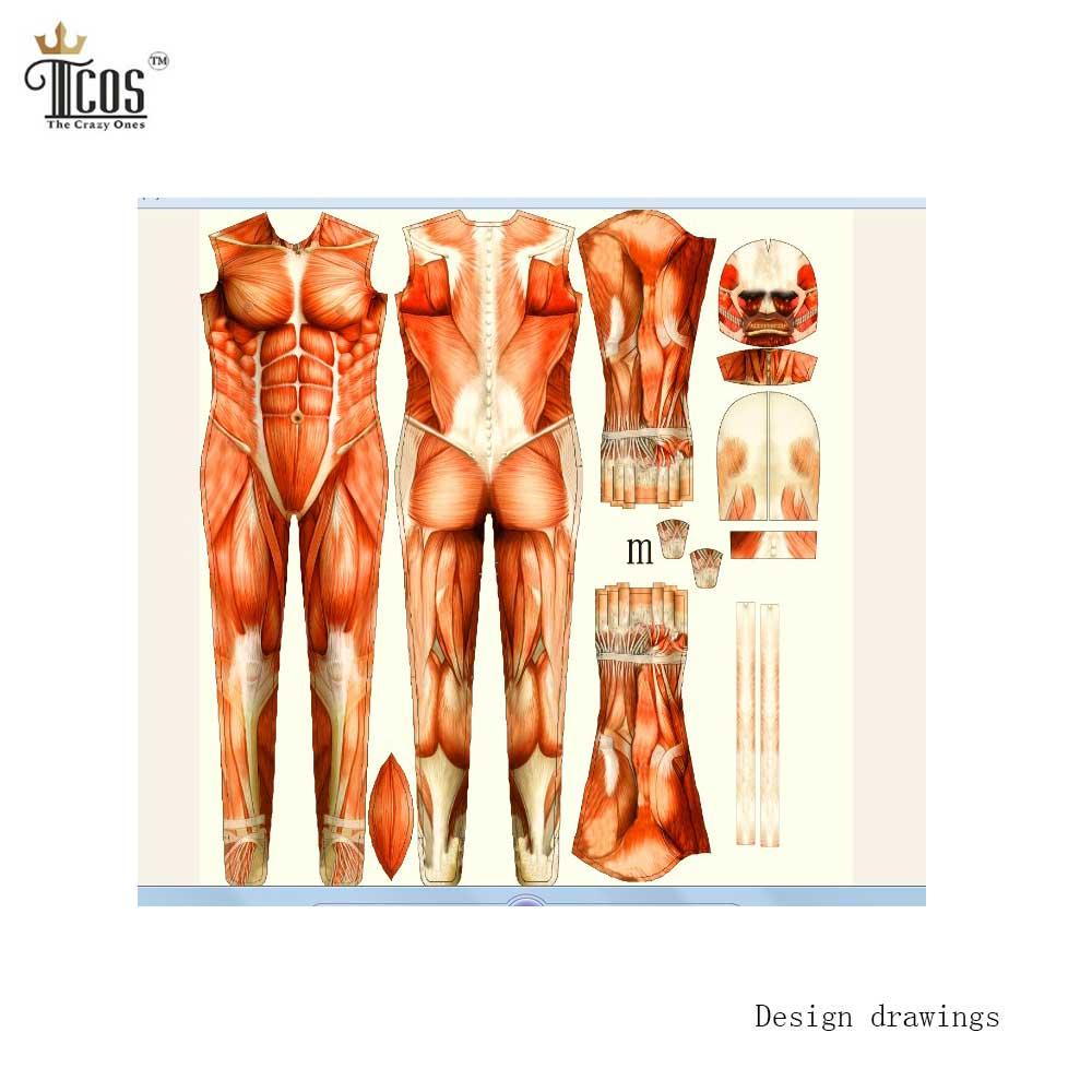 wholesale attack on titan cosplay costumes spandex lycra second, Muscles