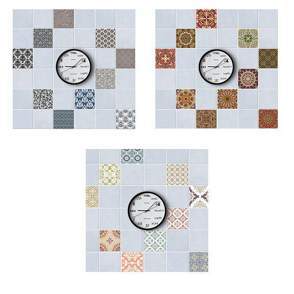 Adesivo per piastrelle impermeabile rimovibile per bagno stile arabo arabo 1set 10psc Poster Cucina Oi-Resistente Adesivi murali
