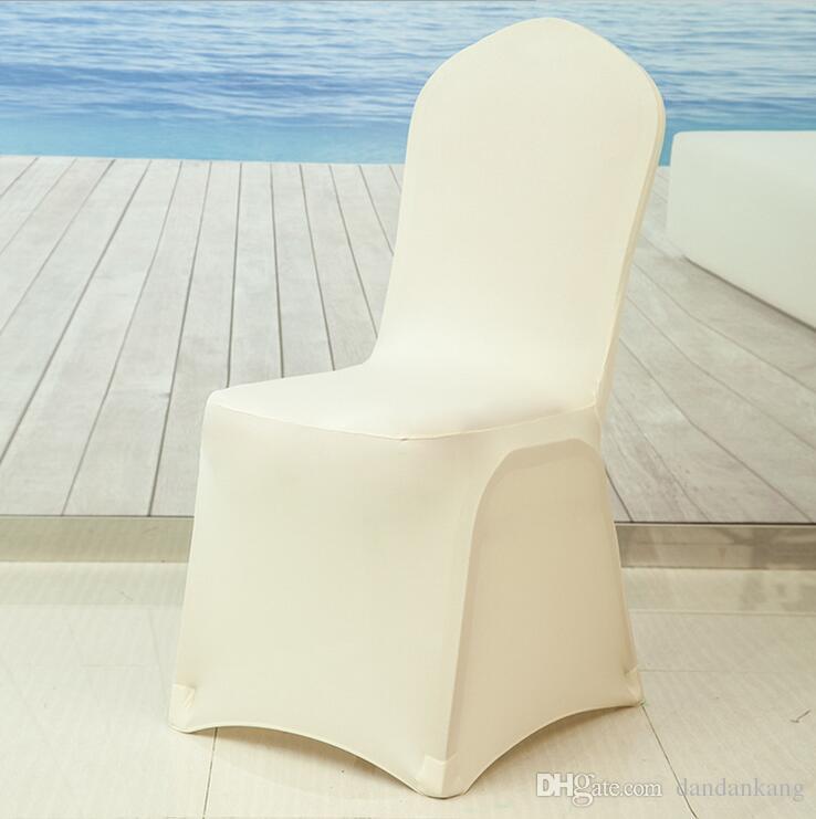 copridivani festa di nozze nuovo Bianca Universale spandex chrsitmas sedie decorazione spandex copertura per sedia festa di nozze banchetti coperture