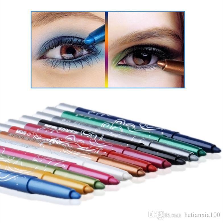 프로 패션 12 색 눈썹 반짝이 그림자 EyeLiner 연필 펜 화장품 메이크업 세트 키트 도구