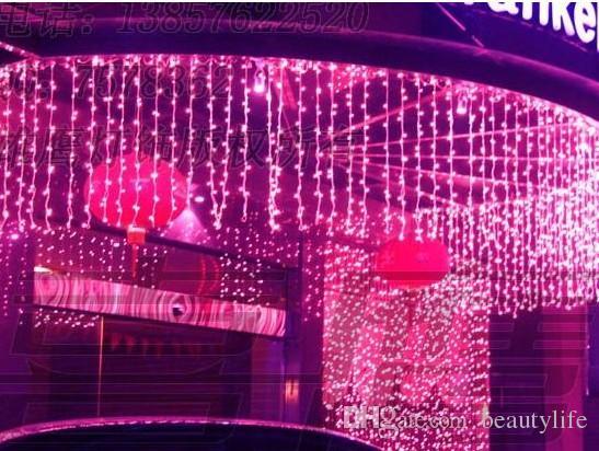 Fundo do casamento da decoração da janela à prova d 'água ao ar livre do diodo emissor de luz do diodo emissor de luz do diodo emissor de luz do feriado das luzes do feriado das luzes da cortina dos LEDs de 9m * 1M 450