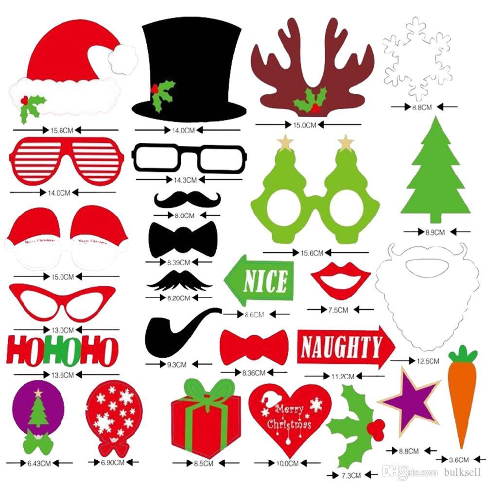 Photo Booth Weihnachten.Grosshandel 28 Teile Los Diy Maske Foto Booth Props Schnurrbart Auf Einem Stock Weihnachten Neujahr Hochzeit Geburtstag Party Dekoration Funning