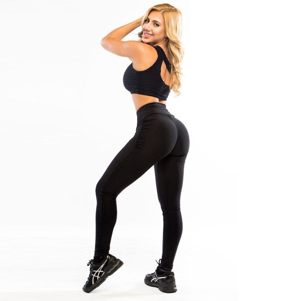 NEW Sexy Womens Fashion Sportswear Pants Elastic High Waist Solid Fitness Leggings Skinny Stretchy Full Length Workout Leggins