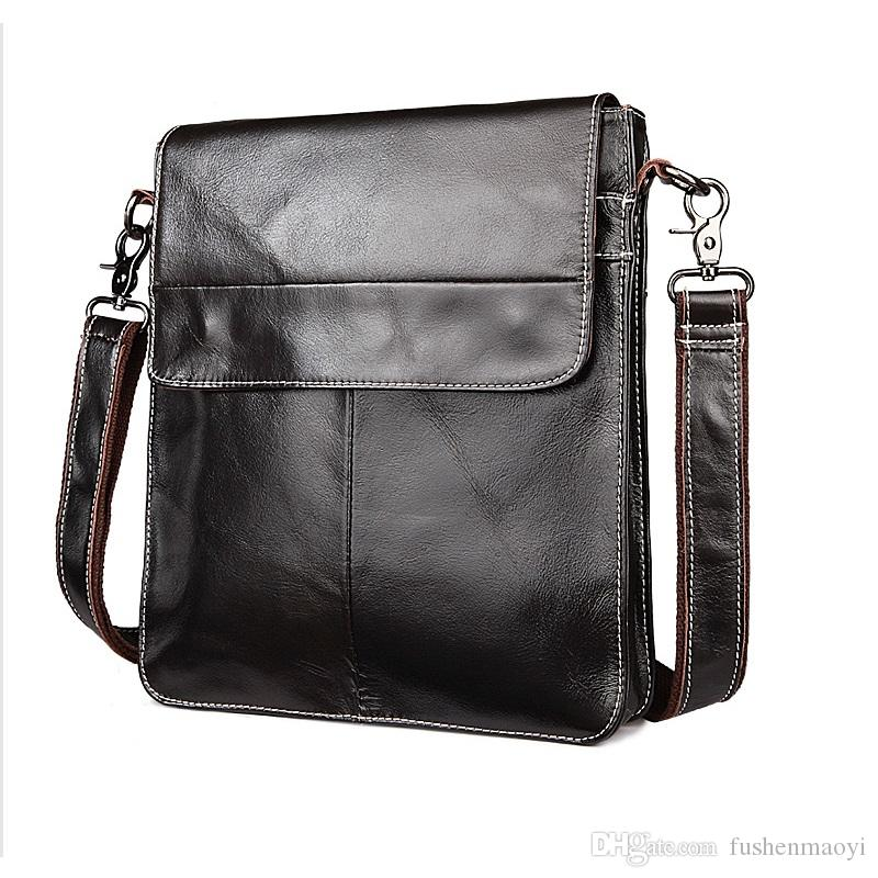 Men/'s Business Casual Shoulder Bag Cross Body Messenger Leather Handbag Bags