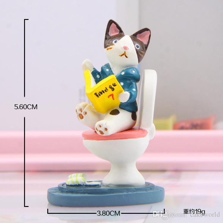 1 pz Zakka toilette gatto fata ornamenti da giardino bambole bonsai figurine terrario accessori casa delle bambole decorazione della casa