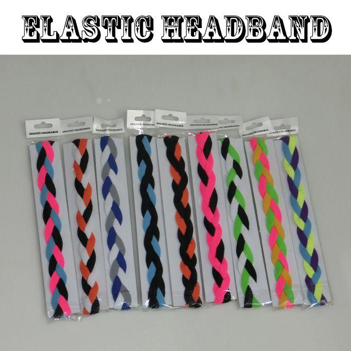 Cegate Trançado Headband Esportes com Aderência Não Slip para Yoga, Corrida, Futebol, Basquete, Tênis, Voleibol, Malhando