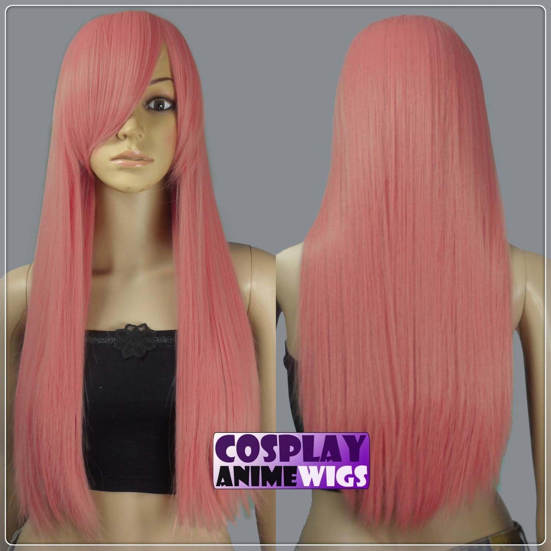 70cm Milkshake Pink Heat Styleable Lunghe Parrucche Cosplay 76_KPN