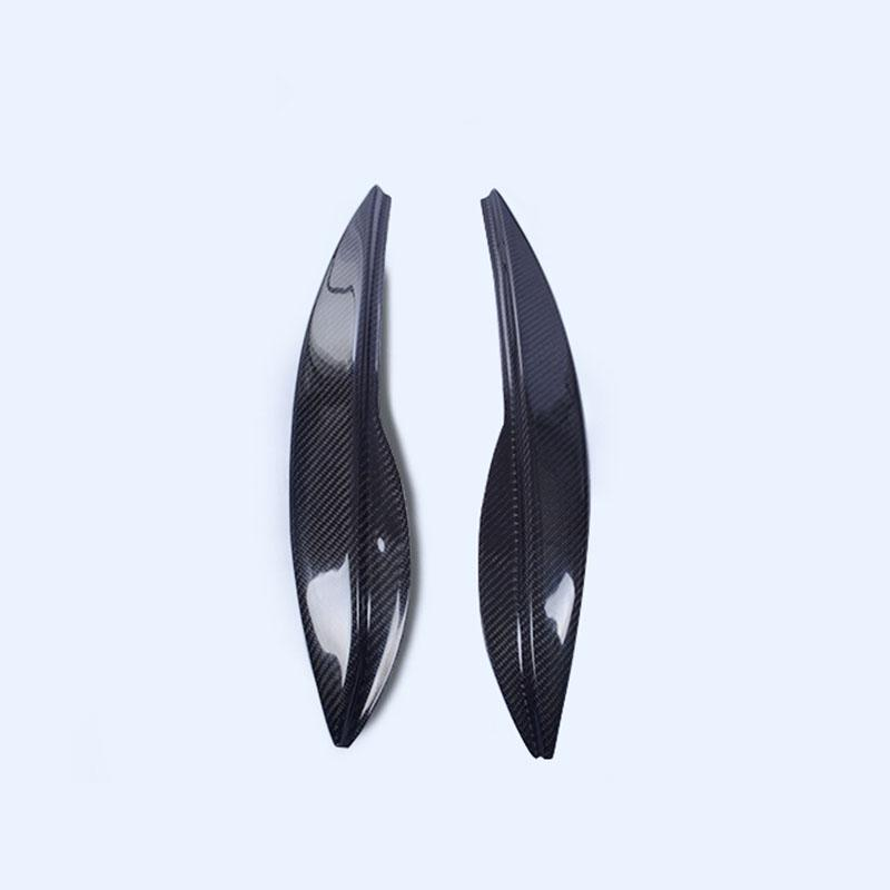 2x For Honda Jazz//Fit 2009-13 Carbon Fiber Headlamps Light Brow Decorative Trim