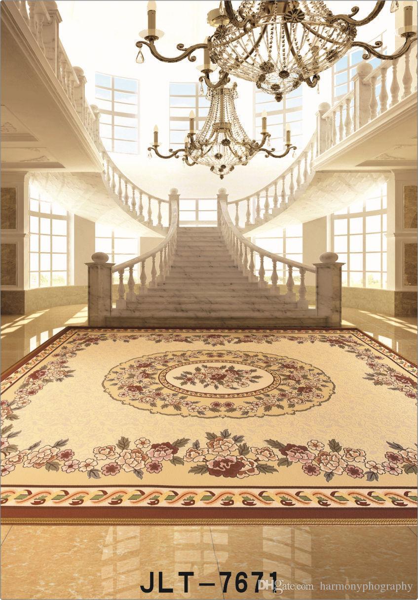 Grand hall escalier tapis 5X7ft caméra fotografica vinyle tissu photographie milieux de mariage enfants bébé toile de fond pour studio de photo