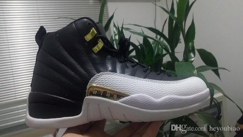 Men 12s WINGS Black Metallic Gold Basketball shoes sneakers outdoor Sports 12 Trainers size 41-47
