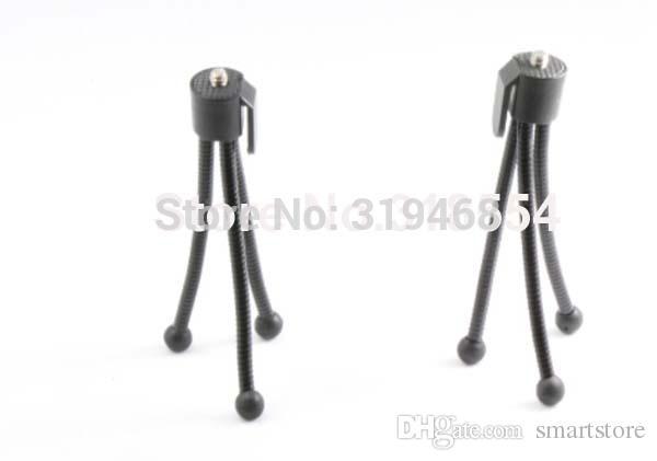1000pcs / lot # nuovo mini portatile flessibile TriPod supporto del basamento della videocamera portatile UNIVERSALE TABELLA Colore Nero 0001
