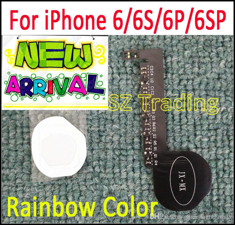 For iPhone 6 6S Rainbow Color LED Logo DIY Luminescent LED Light Glowing Logo Mod Panel Kit For iphone6 6S Plus Back Housing