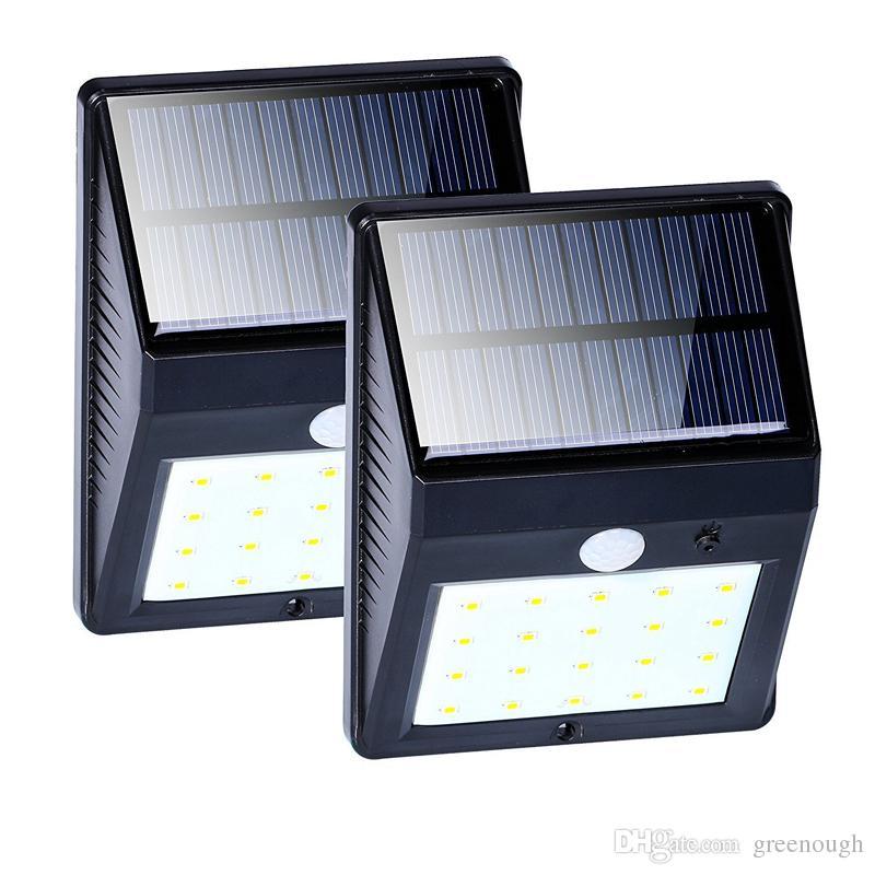 10pc 20LED Solar Lamp LED Outdoor Light PIR Motion Sensor Garden Lights Waterproof Courtyard Wall LED Lamp White Exterior Security Spotlight