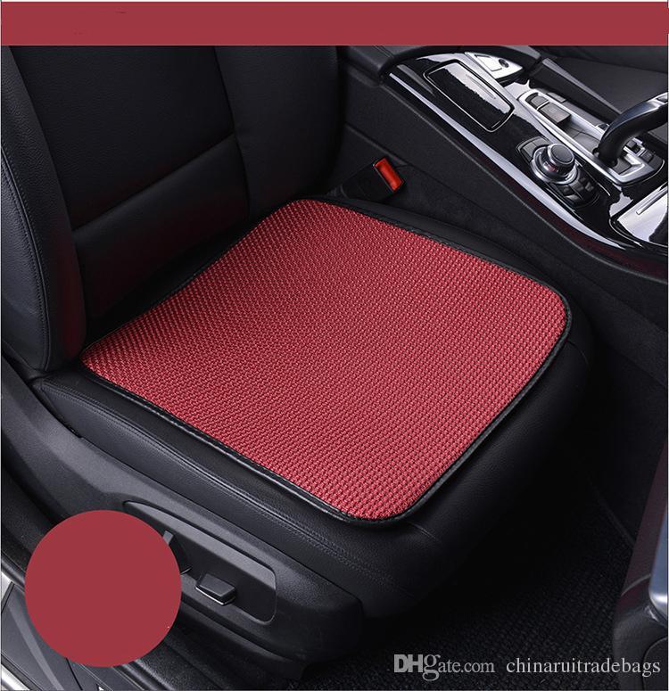 Samochód przednie siedzenie obejmuje sztuczny lodowy jedwabny projekt Universal Fit SUV Sedans Chair Pad Poduszka Antiskid Oddychająca