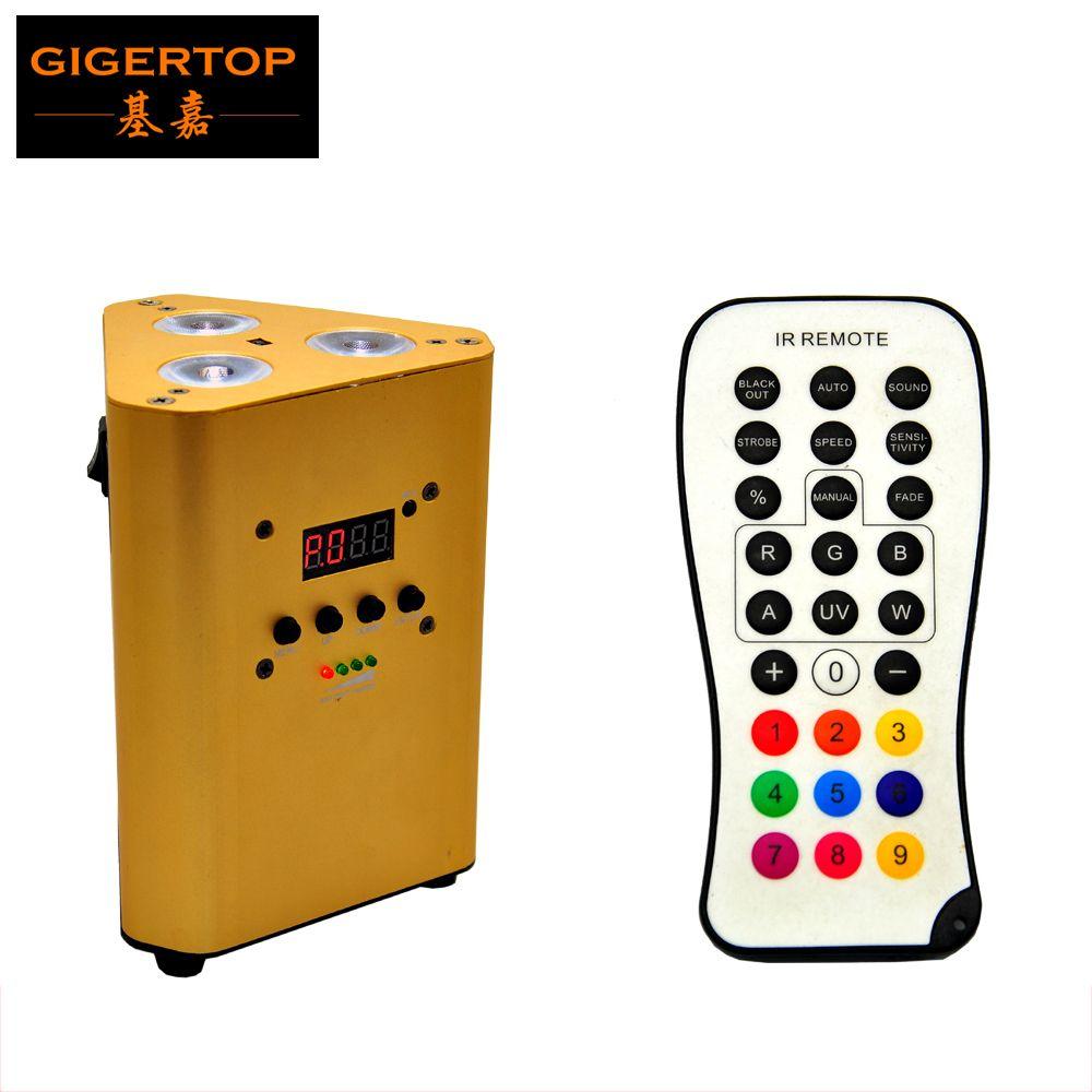 TIPTOP Oro Colore TP-G3047 Libertà intelligente IRC controllo Uplihgts 3 * 10W RGBW 4in1 Led No Funzione wireless batteria ricaricabile Li-TP G3047-4IN1