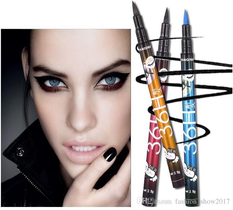 YANQINA Fashion يشكلون جل قلم كحل مقاوم للماء 36 ساعة مقاوم للماء ، سهل الارتداء ، قلم تحديد العيون السحري