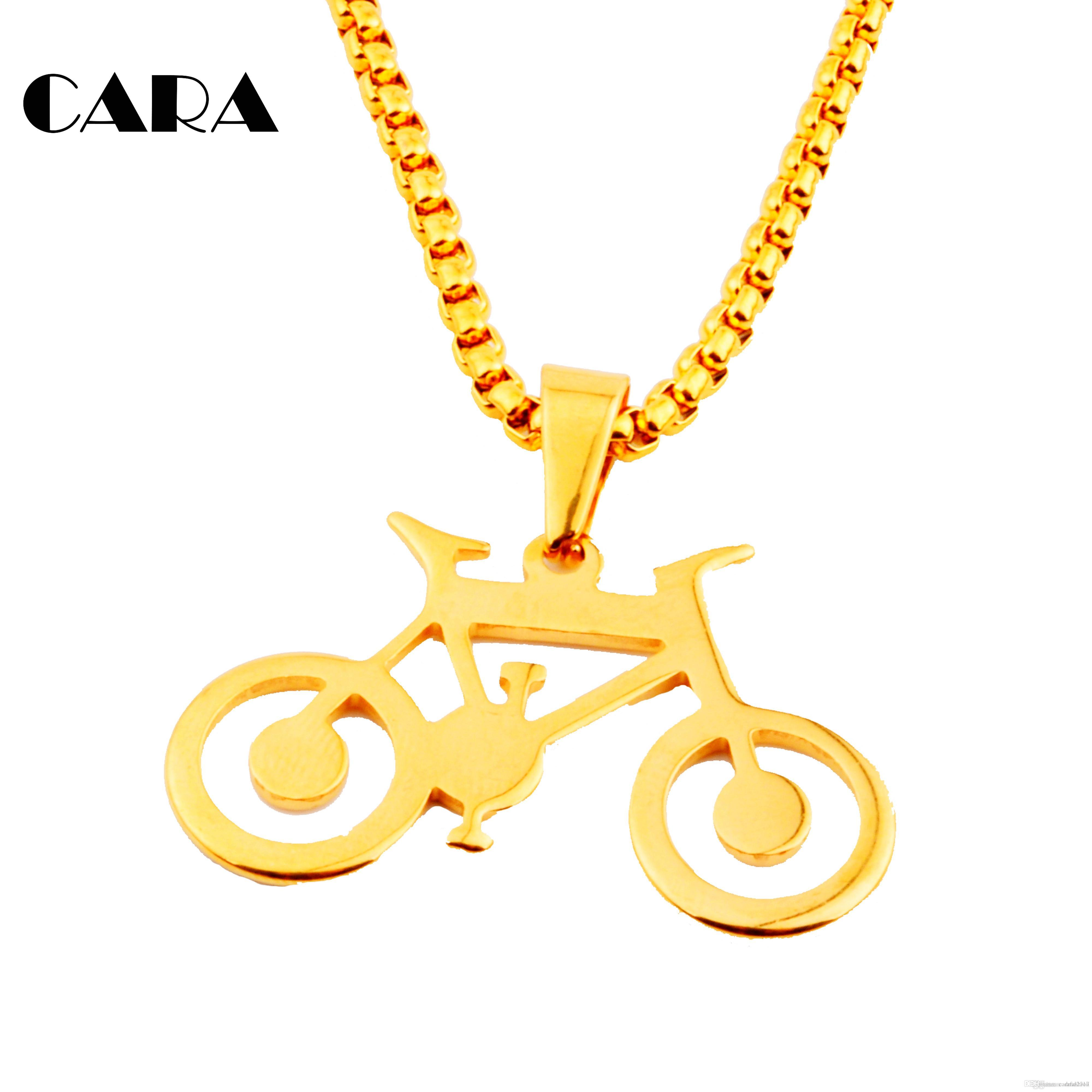2017 New Arrival Unisex stainless steel bicycle bike pendant necklace hip hop necklace chokers necklace for men ,CAGF0001