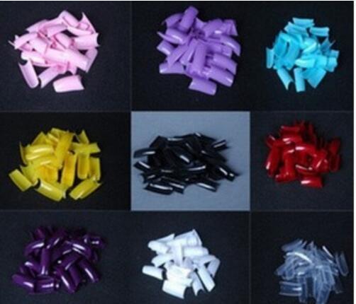 500 teile / paket Halbe Abdeckung Gefälschte Falsche Französisch Nail art Künstliche Acryl Gel UV Maniküre Set