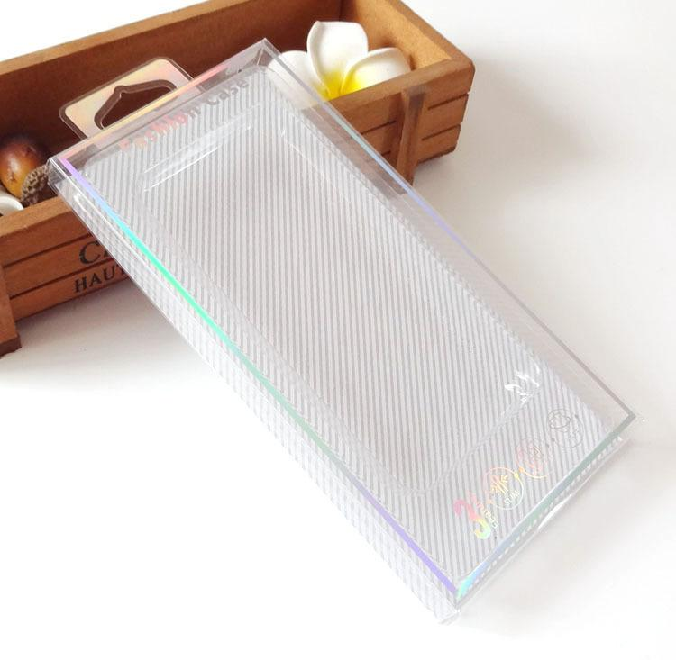 100pcs التي الجملة التجزئة العالمي شفاف PVC التعبئة مربع مع علبة الداخلية عن حالة الهاتف المحمول لفون 7 7plus