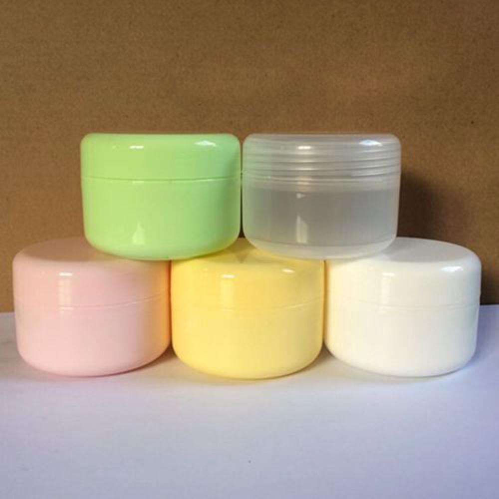 10 шт./лот пластиковые пустые Contenitori для Cosmetica 100 г (мл) прозрачный белый зеленый Mulit цвета косметический крем банки коробка упаковка CJ14
