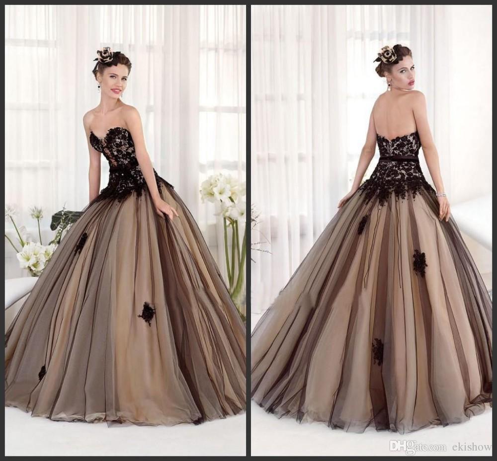Compre 2017 De Encaje Negro De Tul Vestidos De Quinceañera Sin Tirantes De Escote Corazón Vestido De Fiesta Vestidos De Fiesta 15 Años Vestidos De