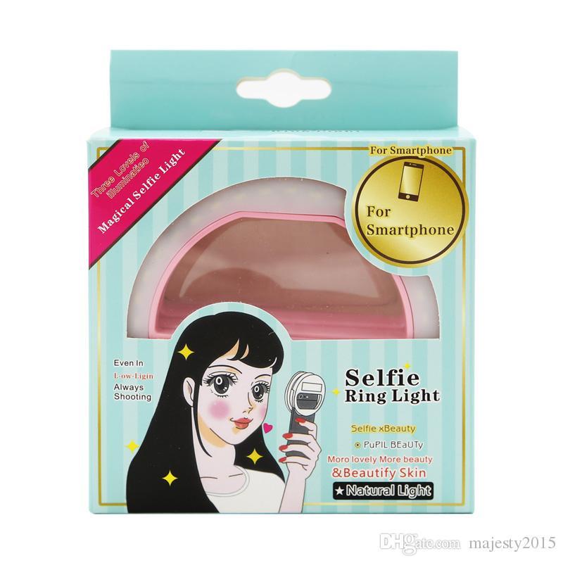 Selfie Ring Light Clip-On Fill Light 36 LEDリングフラッシュLED LEDのためのLEDのためのLEDのためのSamsungすべてのスマートフォン