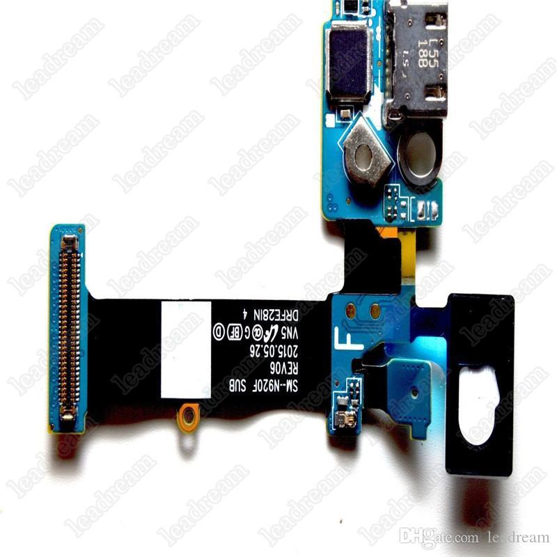 50PCS OEM Chargeur Chargeur Dock Port USB Flex Câble Pour Samsung Galaxy Note 5 N920A N920T N920V livraison DHL