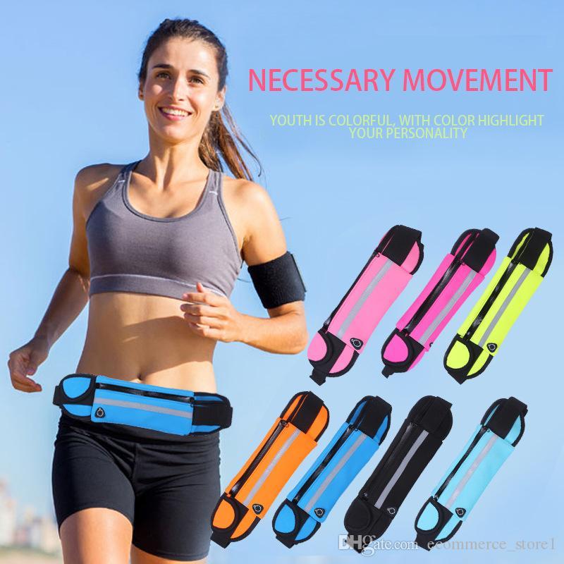 체육관 허리 가방 방수 스포츠 실행 가방 액세서리 범용 전화 케이스 파우치 아이폰 6 플러스 삼성 갤럭시 J5 S7 S6 S5 A3