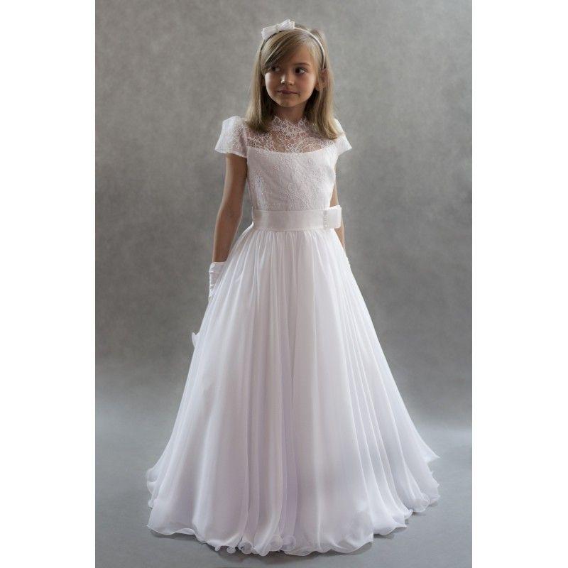 ragazze Flower Girl Dress di vendita caldo del merletto vedere attraverso i bambini piccoli abiti di spettacolo Abiti collo Matrimoni di lunghezza del pavimento delle ragazze