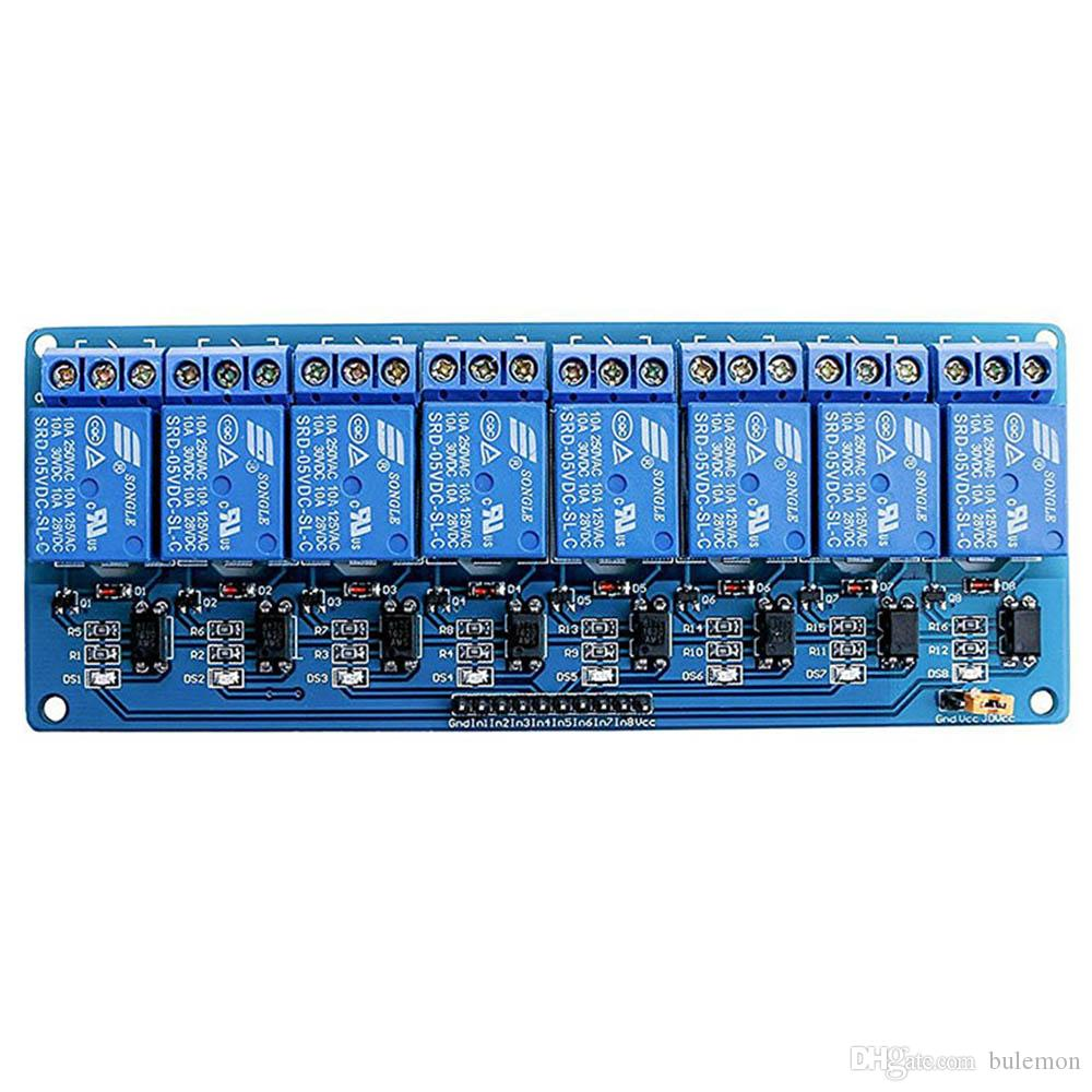 With Optocoupler 8 Channel Relay Module Relay Control Panel PLC 5V Module