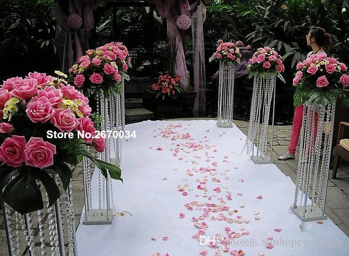 Düğün dekorasyon akrilik kristal vazo, çiçek vazo standı