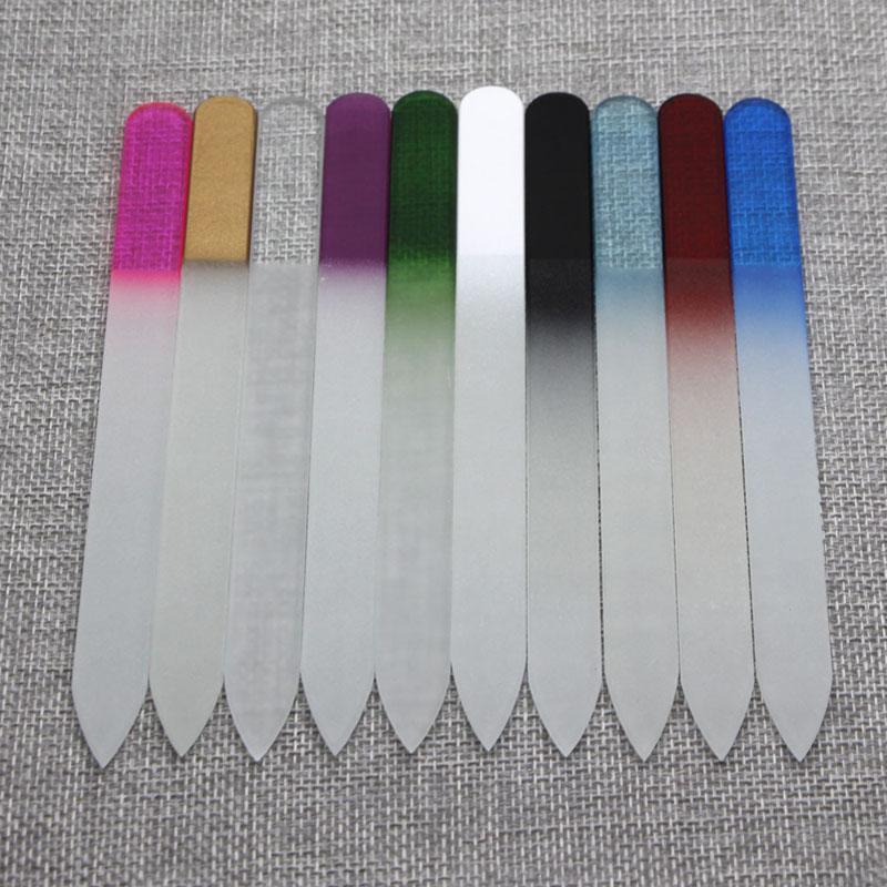 """5.5 """"/ 14CM 크리스탈 유리 네일 파일 새로운 매니큐어 멀티 10 색 아름다운 NF014 무료 배송"""
