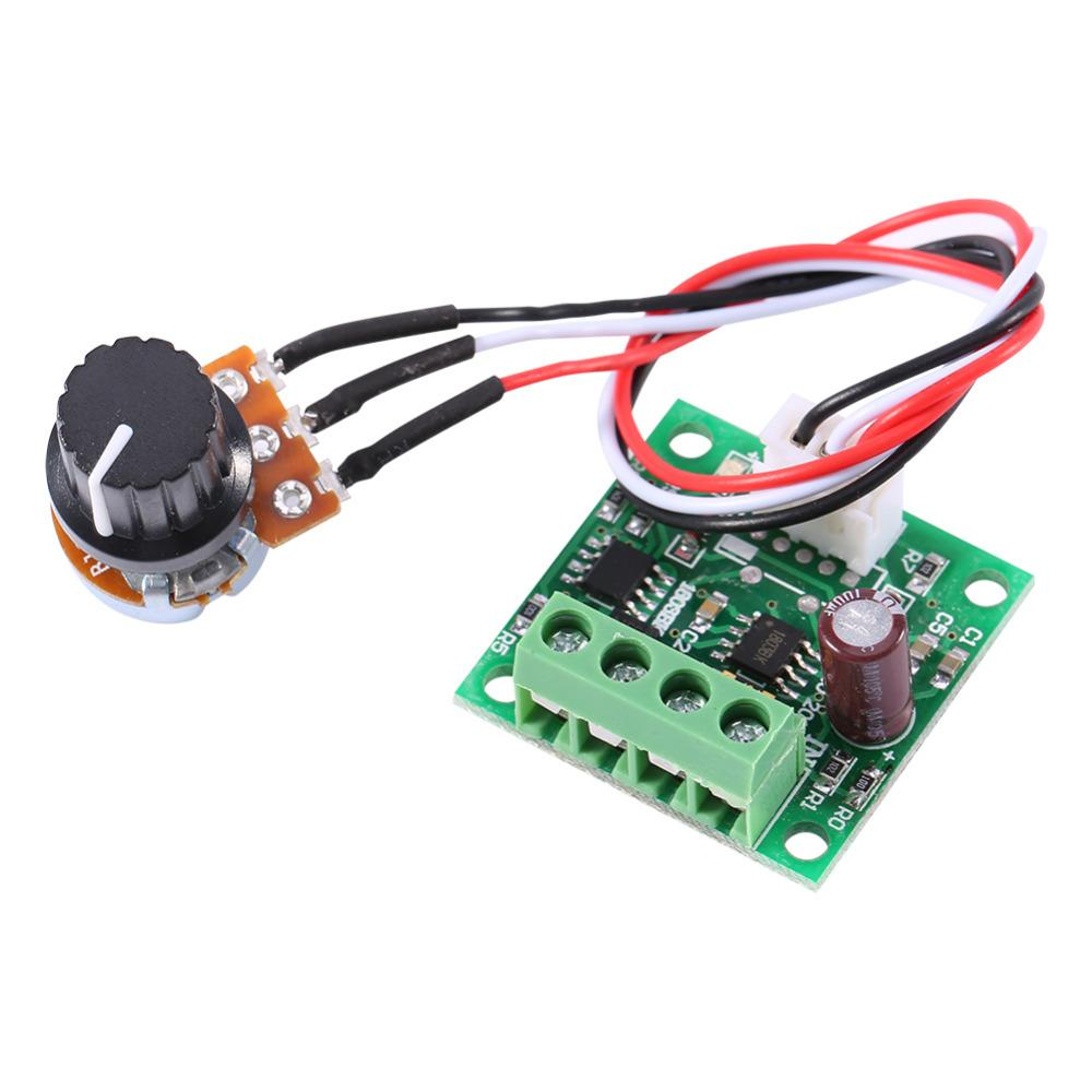 Freeshipping 10pcs/lot Mini PWM Motor Speed Controller Low Voltage DC 1.8V to 15V 2A Regulator Control Module