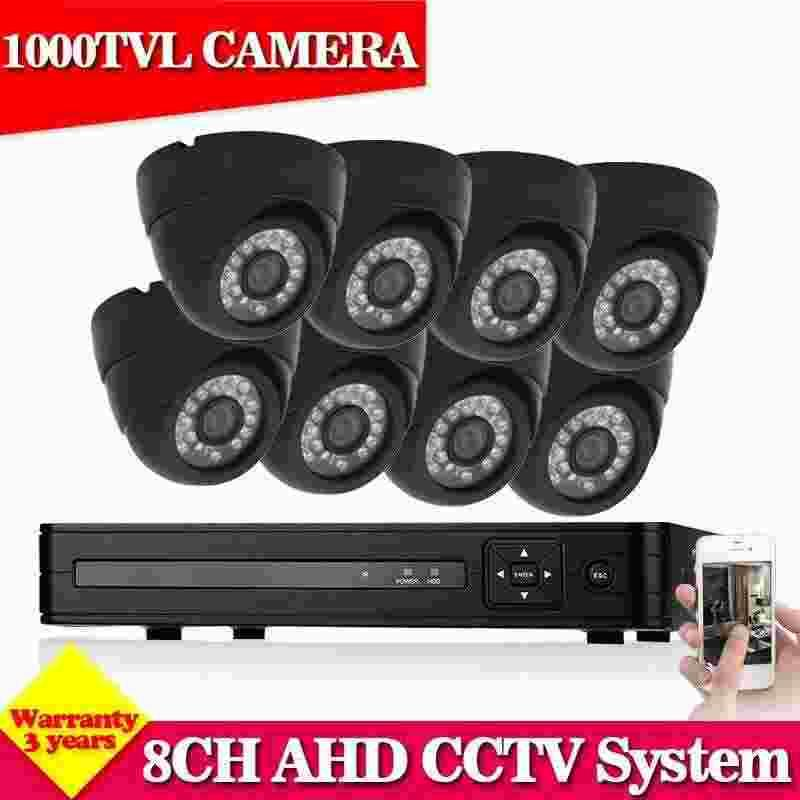 NEW Arrival NINI HD 1080N 8CH HDMI DVR 1000TVL IR-CUT CCTV Cameras Home Security System 8 channel video surveillance kits