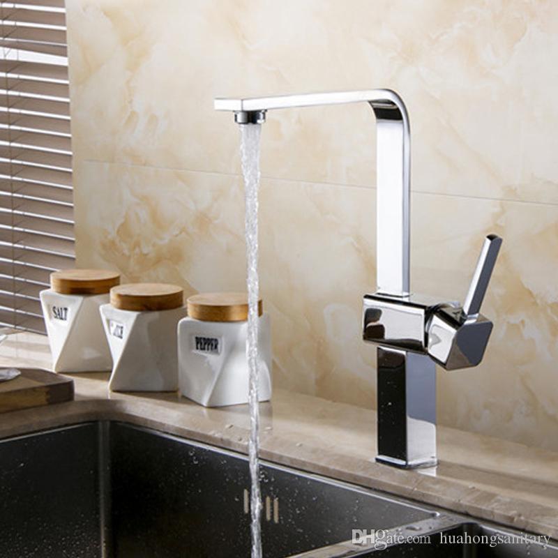 Billig Wholesale! Moderne Badezimmer-Hahn Aufstockung Sets mit Chrome einzigen Handgriff Ein Loch, Feature für Centerset HS317