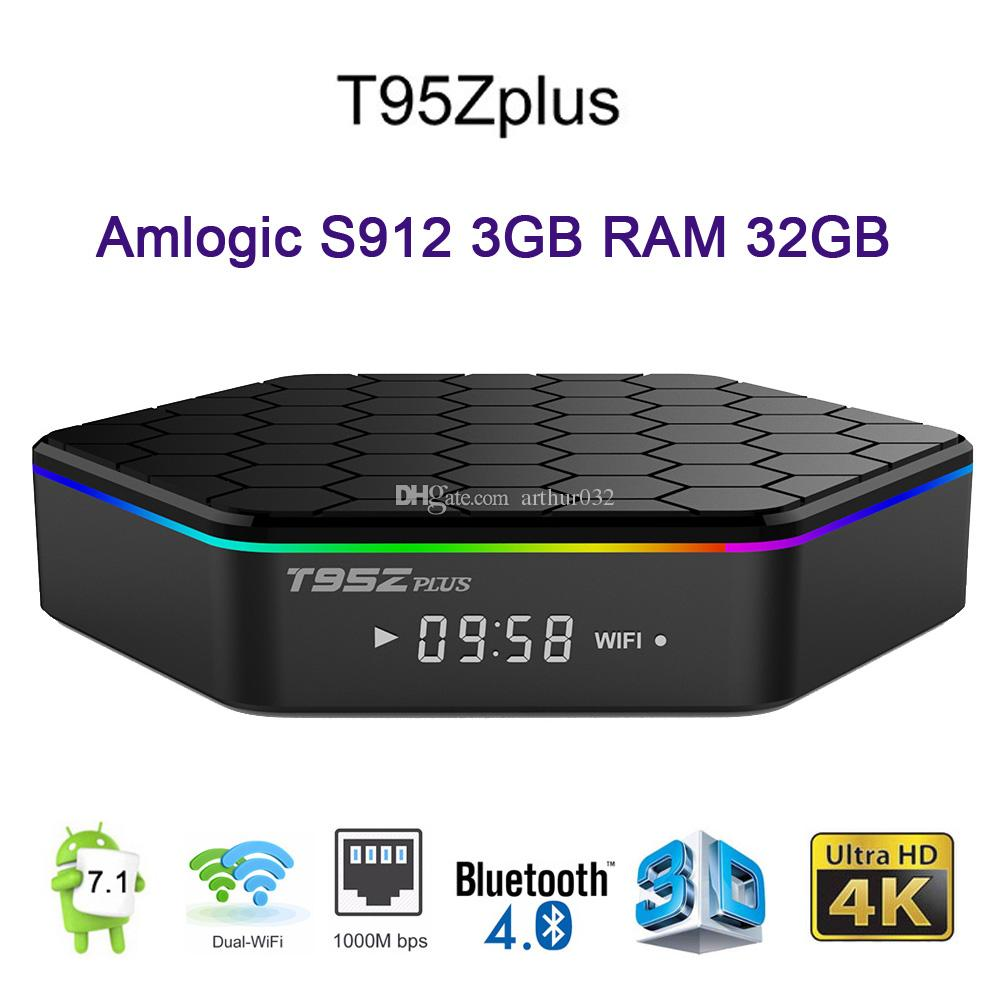 T95Z بالإضافة إلى 3GB DDR3 32GB الروبوت 7.1 TV صندوق AMLogic نوع S912 2.4G 5GHz المزدوج WIFI 1000M LAN BT4.0 4K 2GB 16GB الذكية وسائل الإعلام لاعب أدى العرض T95Z +