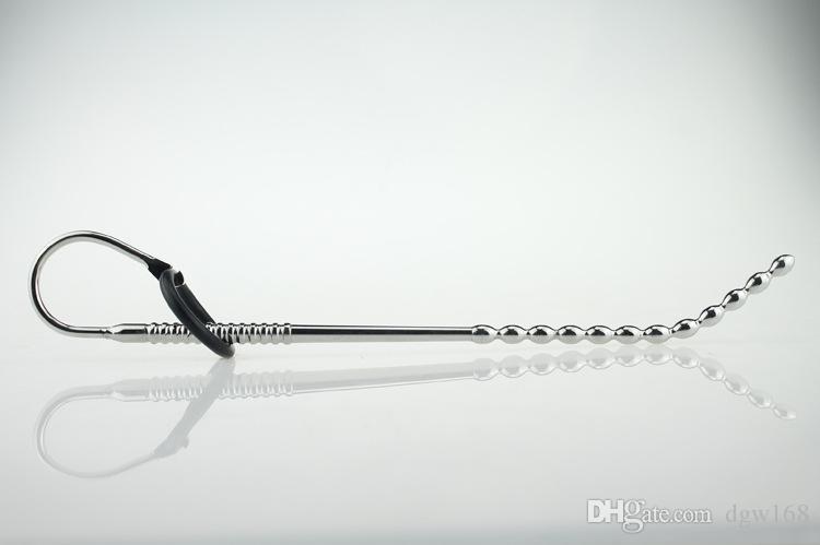 Fiche de pénis urétral mâle Chastity Jouet bouchon en métal urétrale du pénis Chastity Devices Jouets Fetish Hommes DB-007