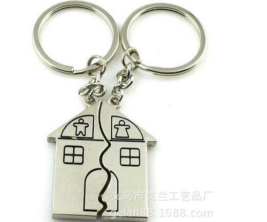 التخسيس 200pairs / الكثير شركة فيديكس يوم الشحن المجاني سريع زوجين هدية رومانسية البيت سلسلة المفاتيح حلقة مفاتيح شخصية الحب الحب مفتاح فوب
