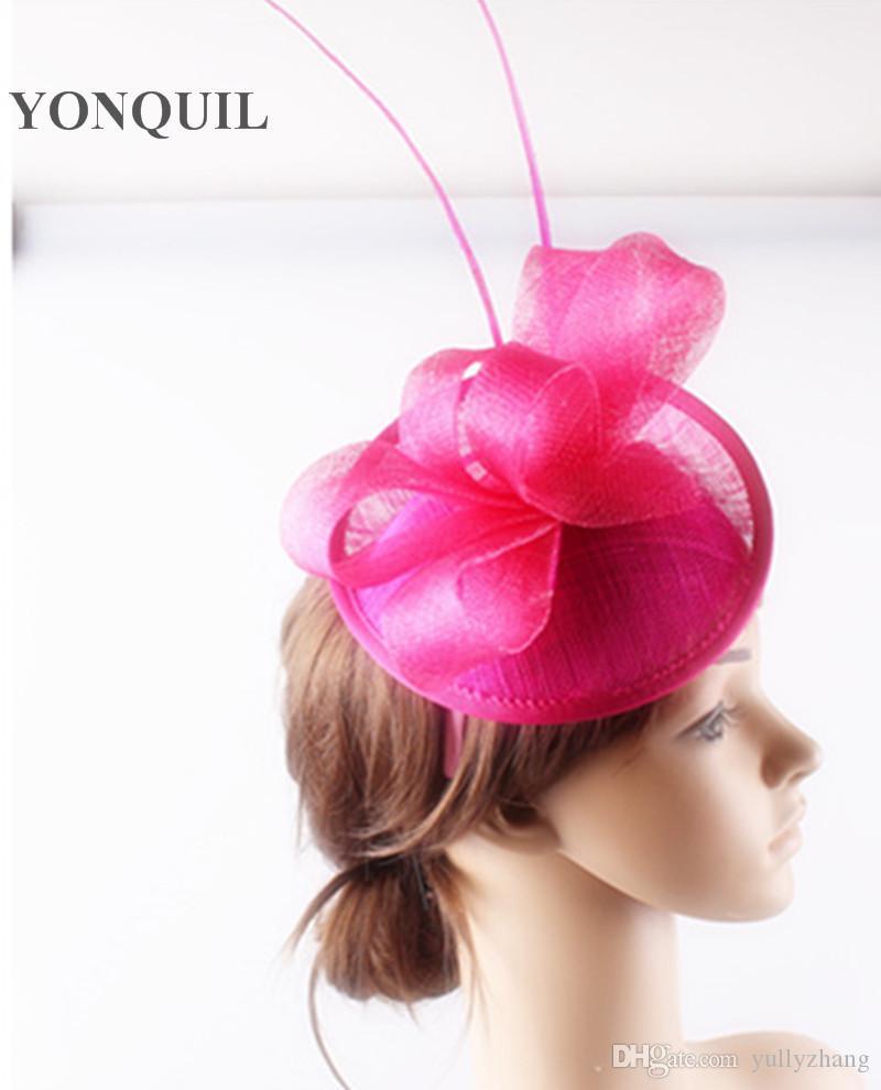 Classique 17 couleurs disponibles matériau sinamay fascinateur bandeau événement cheveux accessoires église millynery livraison gratuite FNR151241