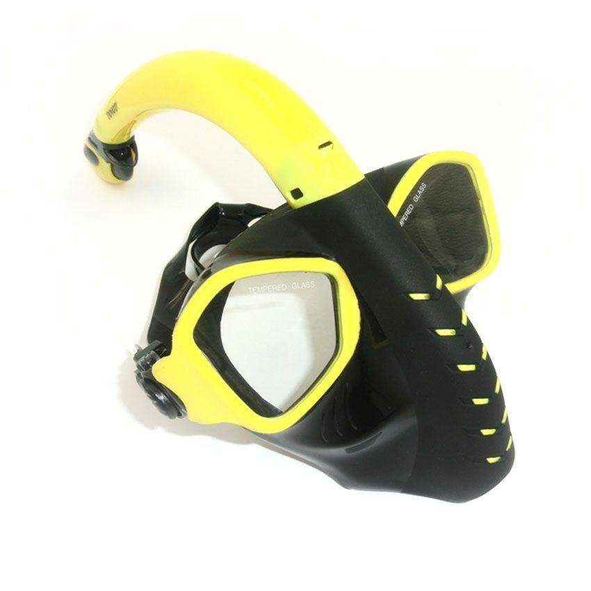 Großhandels-Alien-Art-volles Gesichts-Tauchen maskiert HD-Anti-Nebel-Objektiv-Unterwasserschwimmen-Schutzbrillen Freediving-Erwachsen-Schnorchel-Satz